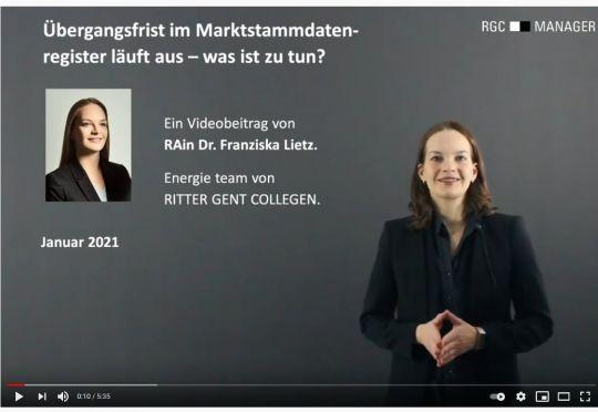RGC-Fokus: Registrierungspflicht im Marktstammdatenregister